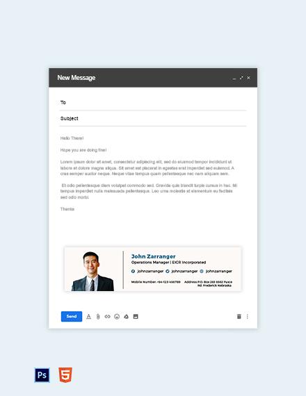 Elegant Business Email Signature Template