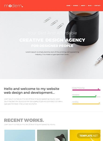 Free Design Portfolio HTML5/CSS3 Website Template