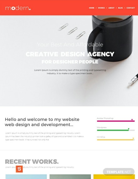 Free Design Portfolio HTML5/CSS3 Website Template