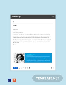 Marketing Responsive Email Signature Template