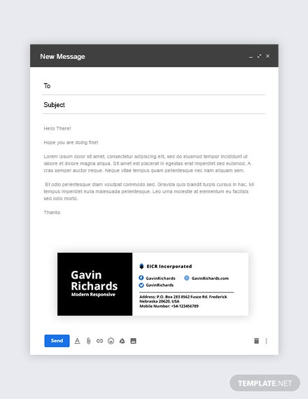 Modern Responsive Email Signature Template