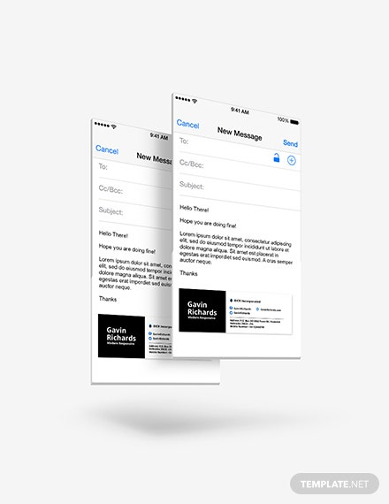 Sample Modern Responsive Email Signature