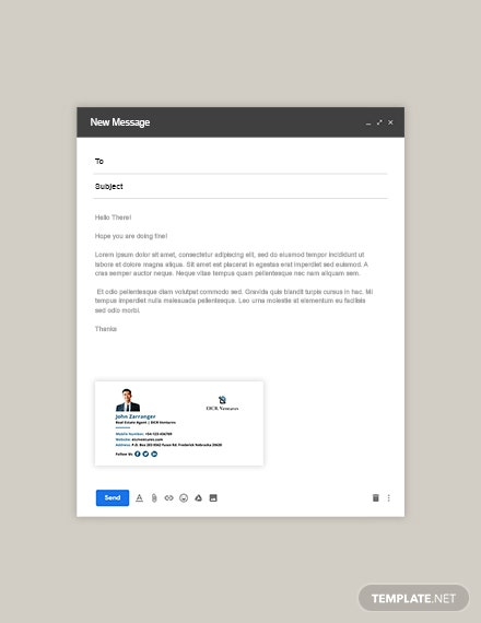 Real Estate Agent Email Signature Template