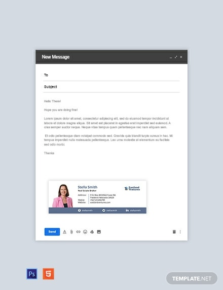 Real Estate Broker Email Signature Template