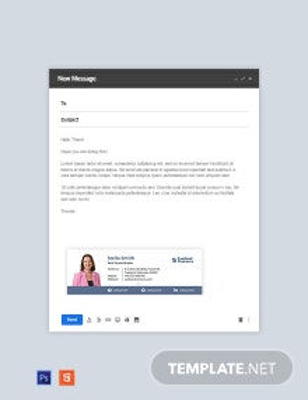 Real Estate Broker Email Signature Template