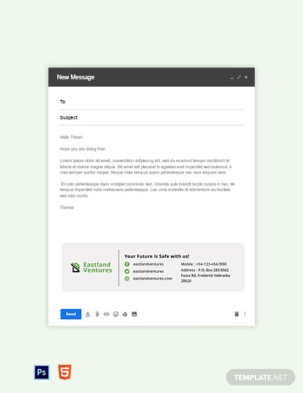 Real Estate Company Email Signature Template