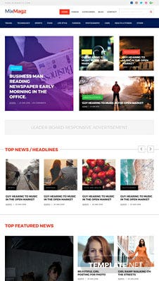 Free Magazine HTML5/CSS3 Website Template