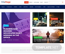 Free Magazine HTML5/CSS3 Website Template