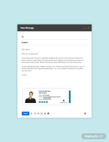 Sales Assistant Email Signature Template