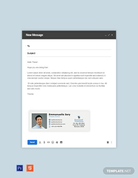 Company Director Email Signature Template