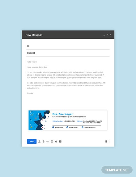 Creative Corporate Email Signature Template