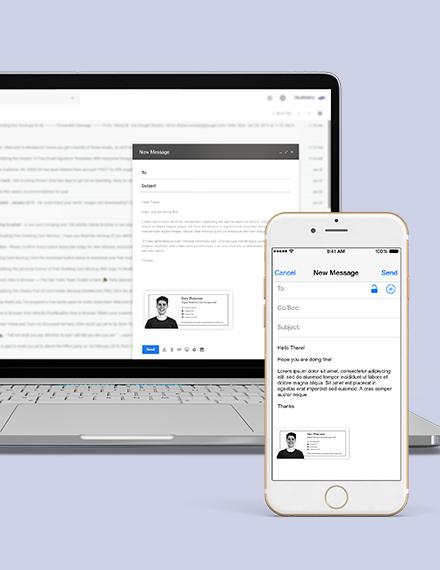 Digital Marketing Email Signature Download