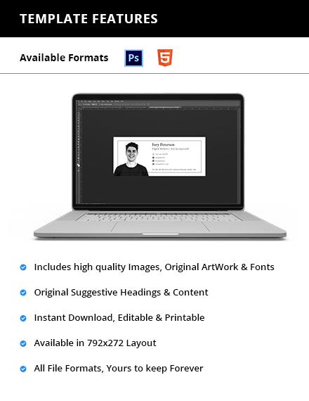 Digital Marketing Email Signature Printable