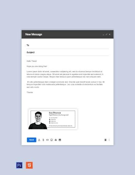 Digital Marketing Email Signature Template