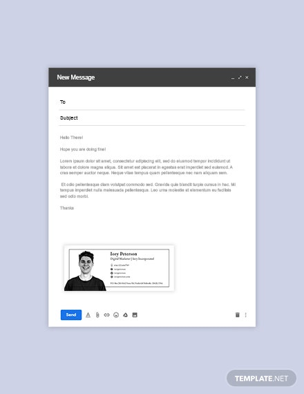Digital Marketing Email Signature Template