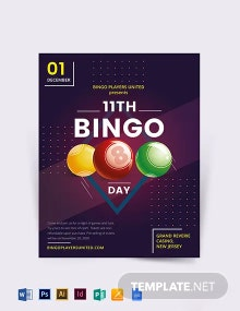 Bingo Event Flyer Template