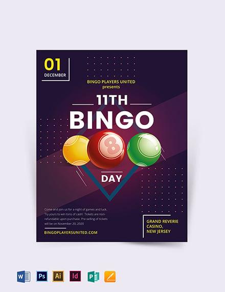 Bingo Event Flyer Template
