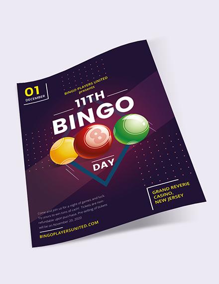 Sample Bingo Event Flyer