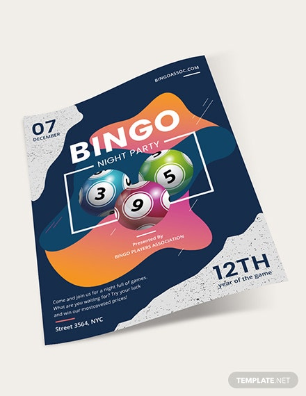 Sample Bingo Night Flyer