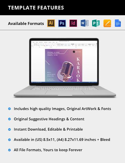 Editable Karaoke Flyer