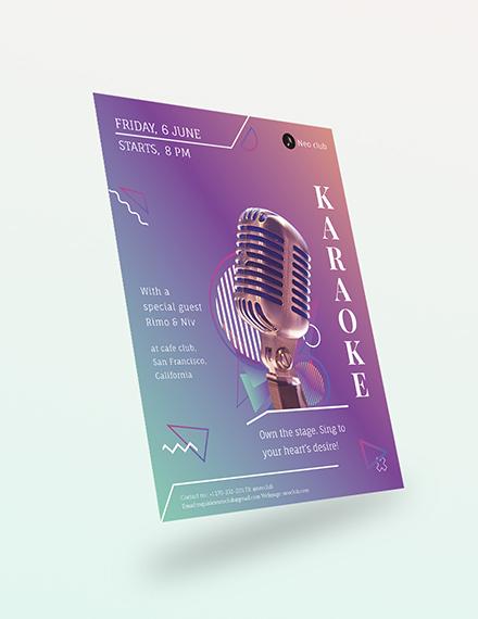 Sample Karaoke Flyer