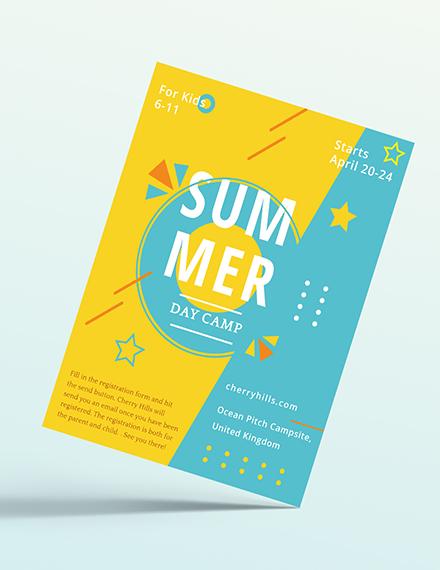 Kids Summer Camp Flyer Download
