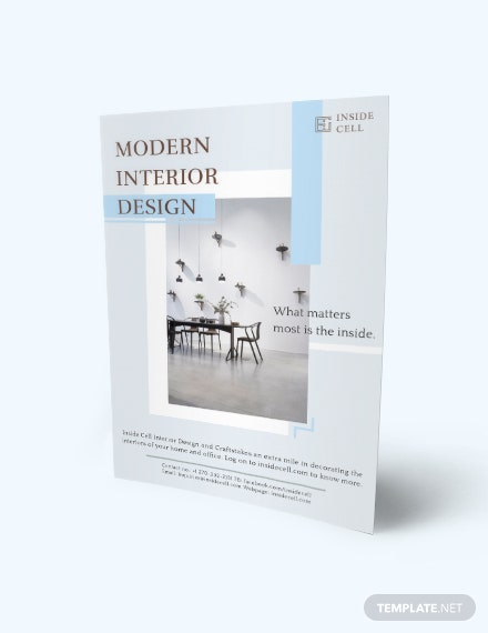 download modern interior design flyer template