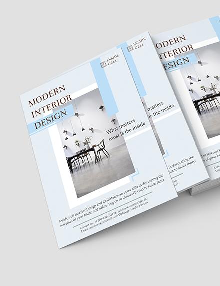 Modern Interior Design Flyer Download