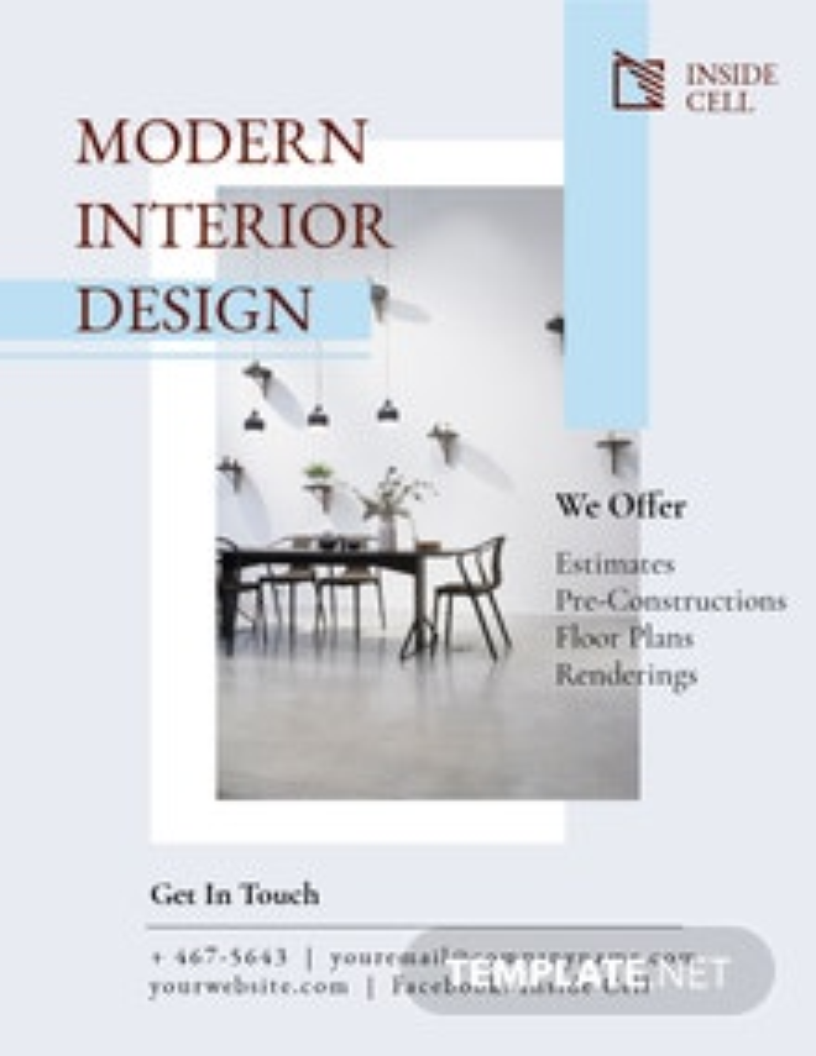 Modern Interior Design Flyer Template