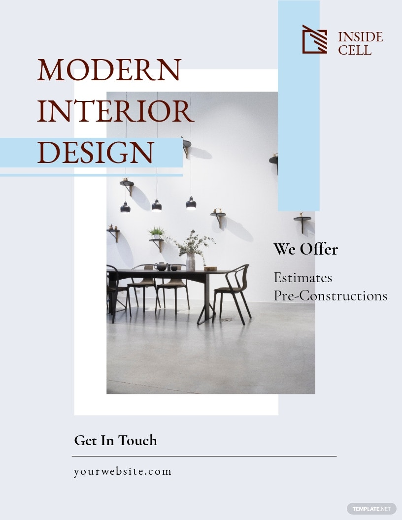 Modern Interior Design Flyer Template