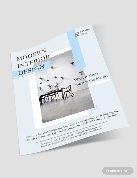 Sample Modern Interior Design Flyer