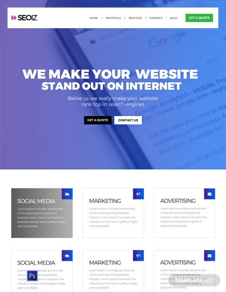 SEO Website Template