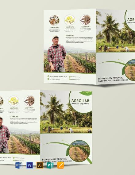 Free Agriculture Bi-Fold Brochure Template