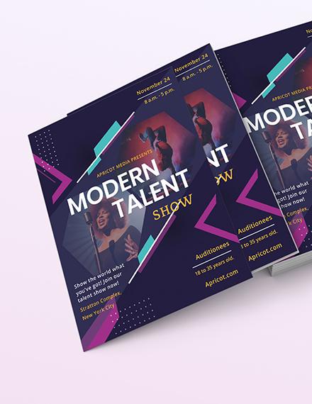 Modern Talent Show Flyer Download