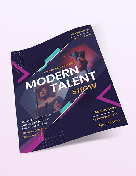 Sample Modern Talent Show Flyer