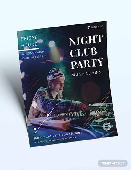 Night Club Party Flyer Download