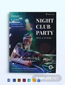 Night Club Party Flyer Template