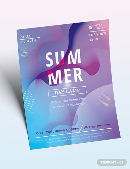 Youth Summer Camp Flyer Download