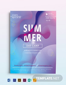 Youth Summer Camp Flyer Template