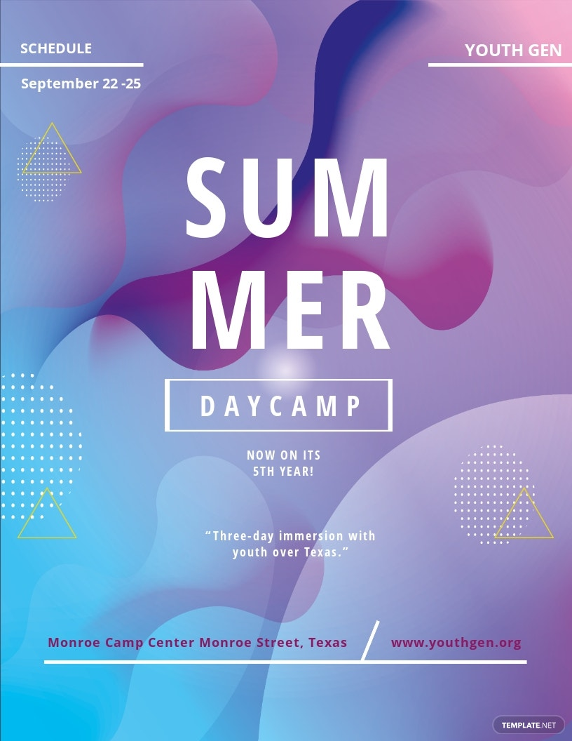 Youth Summer Camp Flyer Template.jpe