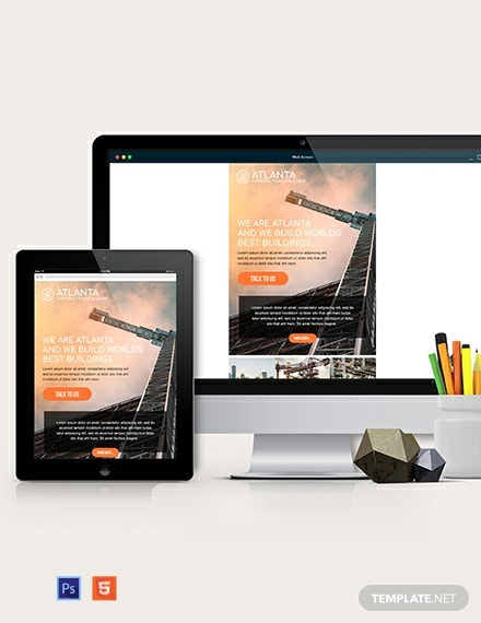 Construction Email Ad Template