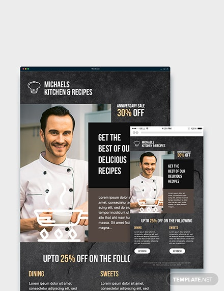 Sample Cook Email Ad