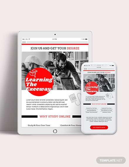 Education Email Ad Download