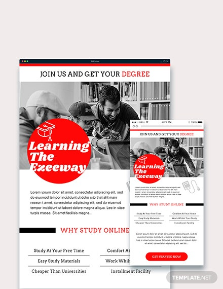 Sample Education Email Ad