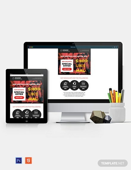 Shopping Email Ad Template