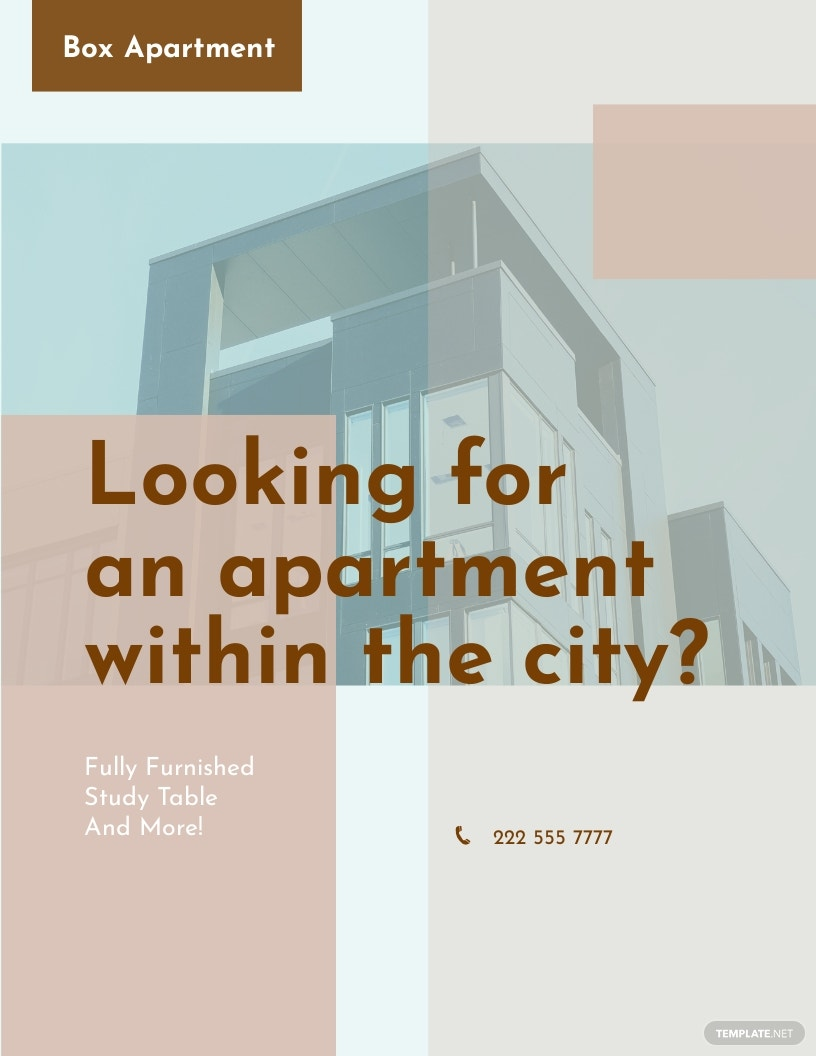 Apartment Flyer Template [Free JPG] - Google Docs, Illustrator, InDesign, Word, Apple Pages, PSD, Publisher