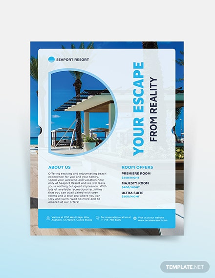 Beach Resort Flyer Template