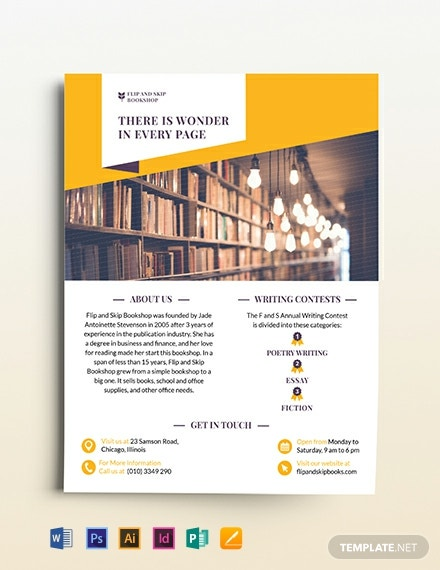 Book Store Flyer Template