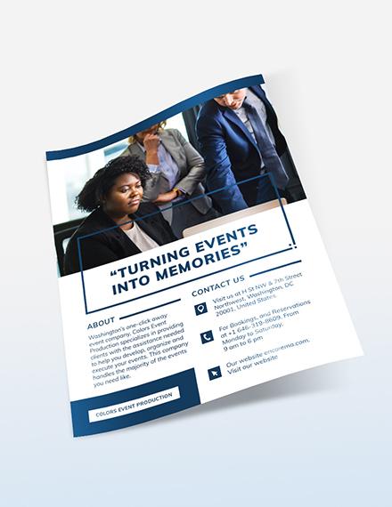 Sample Business Event Flyer