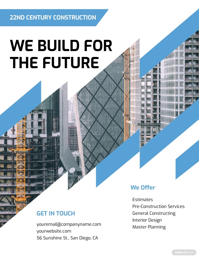 Construction Marketing Flyer Template